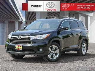 Used 2016 Toyota Highlander LIMITED  for sale in Whitby, ON