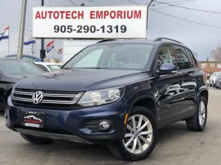 Used 2017 Volkswagen Tiguan Wolfsburg Edition 4Motion Navi/Leather/Sunroof for sale in Mississauga, ON