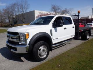 Used 2017 Ford F-550 Flat Deck 12 Foot Crew Cab DRW 4WD Diesel for sale in Burnaby, BC