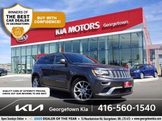Used 2015 Jeep Grand Cherokee SUMMIT DIESEL 4WD | LTHR | NAV | PANO ROOF | B/T for sale in Georgetown, ON
