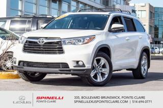 Used 2016 Toyota Highlander **LIMITED AWD 6 PASS** *NAVIGATION*ANGLE MORT*SONAR STATIONEMENT*CAMERA DE RECUL*VOLANT CHAUFFANTS*TOIT PANO*BANCS VENTILÉ* for sale in Montréal, QC