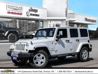 Used 2012 Jeep Wrangler Unlimited Sahara for sale in Simcoe, ON