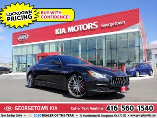 Used 2017 Maserati Quattroporte S Q4 GS | 404HP | CLN CRFX | LTHR | NAV | SUNROOF for sale in Georgetown, ON