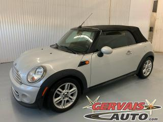 Used 2014 MINI Cooper Convertible Mags Cuir A/C Sièges Chauffants *Transmission Automatique* for sale in Trois-Rivières, QC