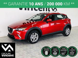 Used 2018 Mazda CX-3 GS AWD ** GARANTIE 10 ANS ** Qualités urbaine indéniable! for sale in Shawinigan, QC