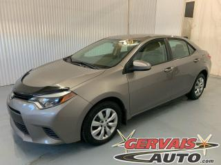 Used 2015 Toyota Corolla LE Camera A/C Bluetooth Sieges Chauffants for sale in Trois-Rivières, QC