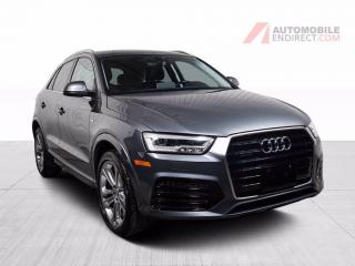 Used 2017 Audi Q3 Technik Quattro Cuir Toit Pano GPS Caméra for sale in St-Hubert, QC