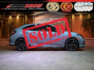 Used 2018 Honda Civic Hatchback Sport Touring - Htd Leather, Sunroof, Navigation !! for sale in Winnipeg, MB