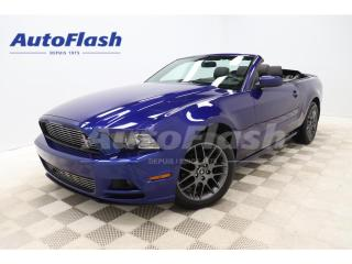 Used 2014 Ford Mustang PREMIUM* CONVERTIBLE* V6* LEATHER* CRUISE* A/C* for sale in St-Hubert, QC