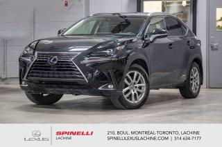 Used 2019 Lexus NX 300h PREMIUM AWD: CUIR TOIT GPS ANGLES MORT CARPLAY LSS HYBRIDE - NAVIGATION - CAMÉRA DE RECUL - MONITEUR ANGLES MORTS - CARPLAY - VOLANT CHAUFFANT - MAGS for sale in Lachine, QC