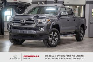 Used 2016 Toyota Tacoma LIMITED 4X4; CUIR TOIT CAMERA GPS AUDIO MAGS 17'' NAVIGATION - MONITEUR ANGLES MORT - SONAR DE STATIONNEMENT - AUDIO PREMIUM JBL - REMORQUAGE 6,000 LB for sale in Lachine, QC
