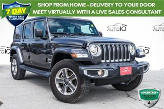 Used 2020 Jeep Wrangler Unlimited Sahara ONE OWNER!!! BLINDSPOT MONITORING!! for sale in Barrie, ON