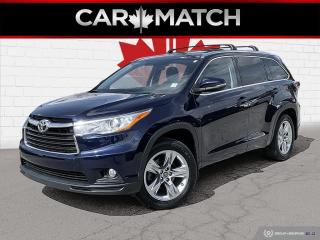 Used 2016 Toyota Highlander LIMITED / NO ACCIDENTS / NAV / LEATHER for sale in Cambridge, ON