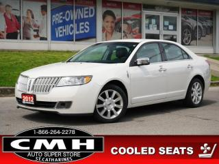 Used 2012 Lincoln MKZ Base  LEATH COOLED/HTD-SEATS P/SEATS 17-AL for sale in St. Catharines, ON