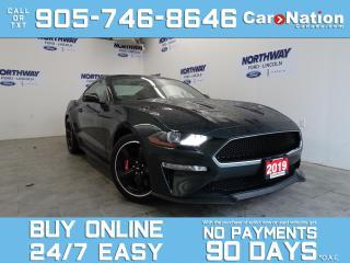 Used 2019 Ford Mustang BULLITT | LEATHER | NAV | 480HP! | ONLY 6KM! for sale in Brantford, ON