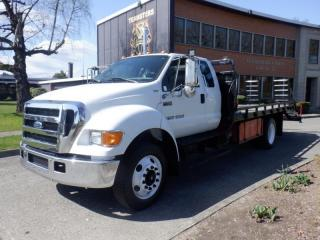 Used 2005 Ford F-750 Super Cab Flat Deck 15 Foot Diesel With Hydraulic Brakes for sale in Burnaby, BC