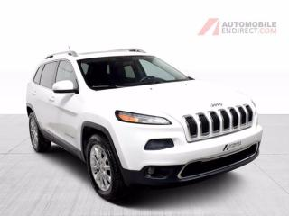 Used 2015 Jeep Cherokee Limited AWD V6 A/C Mags Cuir Toit Pano Caméra for sale in Île-Perrot, QC