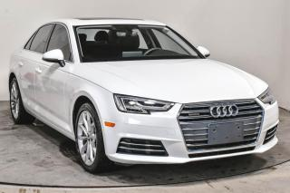 Used 2017 Audi A4 PROGRESSIV 2,0T AWD CUIR TOIT GPS for sale in Île-Perrot, QC