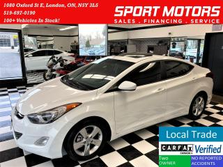 Used 2013 Hyundai Elantra GLS+Sunroof+Remote Start+HeatedSeats+ACCIDENT FREE for sale in London, ON