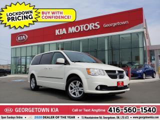 Used 2013 Dodge Grand Caravan CREW PLUS | LTHR | B/U CAM | B/T | STOW N' GO |88K for sale in Georgetown, ON