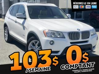 Used 2014 BMW X3 XDRIVE28i   TOIT PANO. CAMERA for sale in Ste-Marie, QC