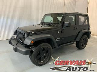 Used 2014 Jeep Wrangler Sport 4X4 Mags Bluetooth Cruise for sale in Trois-Rivières, QC