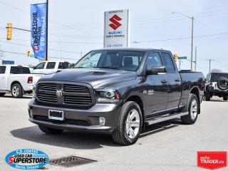 Used 2017 RAM 1500 Sport Quad Cab 4x4 ~Nav ~Cam ~Leather ~Moonroof for sale in Barrie, ON