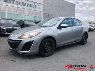 Used 2010 Mazda MAZDA3 GX+AUTOMATIQUE+AIR CLIMATISÉ+TÉLÉ-DERROUILLAGE for sale in St-Hubert, QC