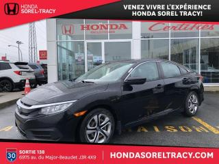 Used 2016 Honda Civic 4 portes, boîte manuelle, LX for sale in Sorel-Tracy, QC