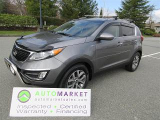 Used 2014 Kia Sportage EX AWD, AUTO, INSPECTED, FINANCING, WARRANTY AND BCAA MEMBERSHIP for sale in Surrey, BC
