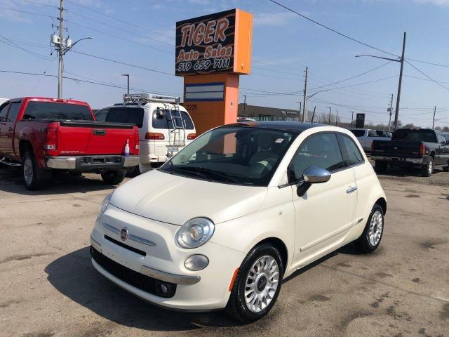 2012 Fiat 500 Lounge**ONLY 145KMS*RED/WHITE LEATHER**CERTIFIED