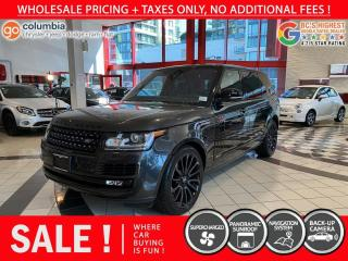 Used 2017 Land Rover Range Rover SC - No Accident / Local / One Owner / Low Mileage for sale in Richmond, BC