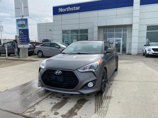 Used 2015 Hyundai Veloster TURBO/AUTO/LEATHER/SUNROOF/NAV/BACKUPCAM for sale in Edmonton, AB
