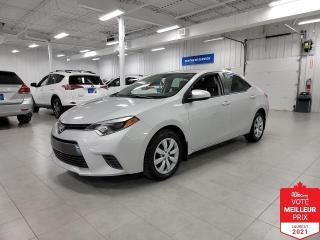 Used 2015 Toyota Corolla LE - CAMERA + SIEGES CHAUFFANTS + FINANCEMENT FACI for sale in Saint-Eustache, QC