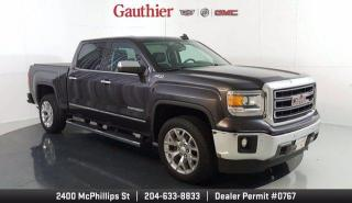Used 2015 GMC Sierra 1500 SLT Crew Cab 4x4, 5.3L V8, Sunroof, Navi., Heated/Cooled Leather Seats, Nice!!! for sale in Winnipeg, MB