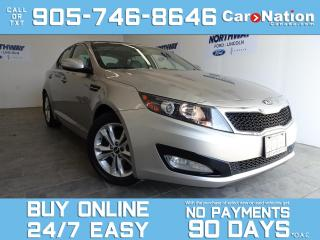 Used 2013 Kia Optima EX | LEATHER | TOUCHSCREEN | REAR CAM | ONLY 48 KM for sale in Brantford, ON