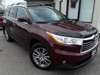Used 2014 Toyota Highlander XLE AWD V6 - LEATHER! NAV! BACK-UP CAM! 8 PASS! for sale in Kitchener, ON