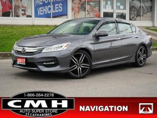Used 2017 Honda Accord Sedan Touring V6  NAV CAM ROOF P/SEATS 18-AL for sale in St. Catharines, ON