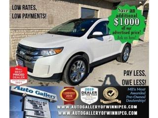 Used 2013 Ford Edge SEL* Sunroof/Bluetooth/Heated Seats/REVERSE CAM for sale in Winnipeg, MB