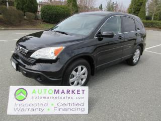 Used 2008 Honda CR-V EX-L 4WD, INSPECTED, FINANCING, FREE WARRANTY & BCAA MEMBERSHIP for sale in Surrey, BC
