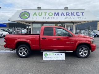Used 2007 Dodge Ram 1500 SLT Quad Cab 4WD FREE BCAA & WRNTY! for sale in Langley, BC