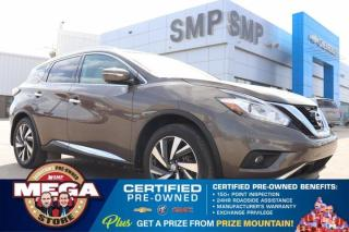 Used 2015 Nissan Murano Platinum- Sunroof, Htd / Vented Leather, Remote Start for sale in Saskatoon, SK