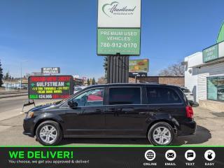 Used 2020 Dodge Grand Caravan Crew DVD | HEATED SEATS | LEATHER | STOW N GO | POWER SLIDING DOORS | BACK UP CAMERA-USED EDMONTON DODGE for sale in Edmonton, AB