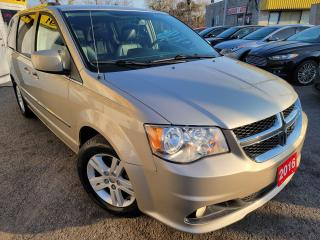 Used 2016 Dodge Grand Caravan Crew+/D/NAVI/CAMERA/DVD/LEATHER/P.DOORS/ALLOYS++ for sale in Scarborough, ON