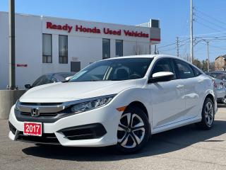 Used 2017 Honda Civic Sedan LX  - Bluetooth - Rear Camera - Heated Seats for sale in Mississauga, ON