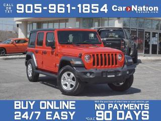 Used 2020 Jeep Wrangler Unlimited Sport S 4x4| COMPANY DEMO| SAFETY & TECH GROUP| for sale in Burlington, ON