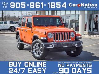 Used 2020 Jeep Wrangler Unlimited Sahara 4x4| HARDTOP| NAVI| LEATHER| COMPANY DEMO| for sale in Burlington, ON