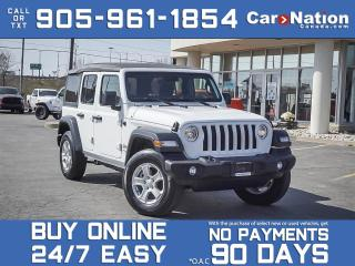 Used 2020 Jeep Wrangler Unlimited Sport S 4x4| COMPANY DEMO| ADVANCED SAFETY GROUP| for sale in Burlington, ON