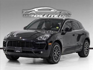 Used 2018 Porsche Macan S Navigation, Red Interior, Panoramic, Loaded, No Accidents for sale in Concord, ON