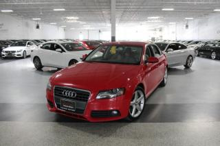 Used 2012 Audi A4 PREMIUM QUATTRO I LEATHER I SUNROOF I HEATED SEATS I CRUISE for sale in Mississauga, ON